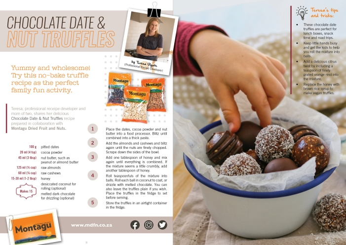 Date and nut truffles recipe for kids.
