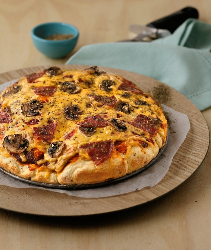 Pizza recipe with scone dough base