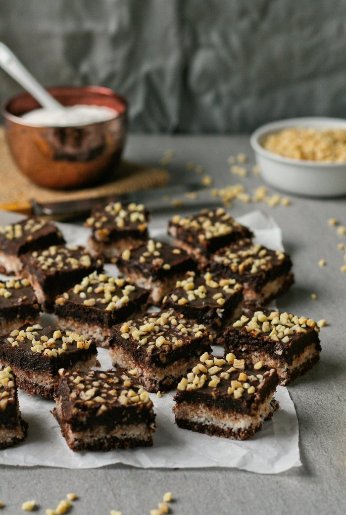 Sugar free chocolate coconut squares
