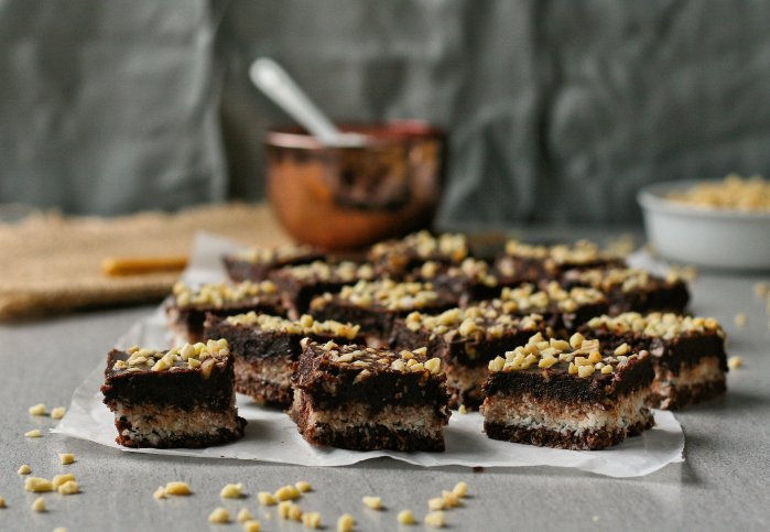 Sugar free chocolate coconut squares