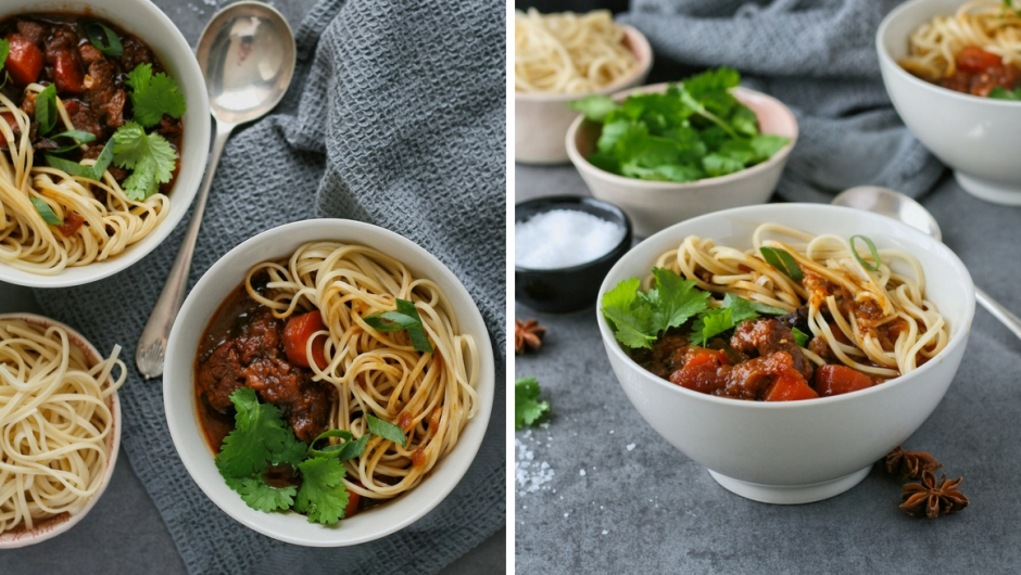 Beef noodle soup recipe with star anise.
