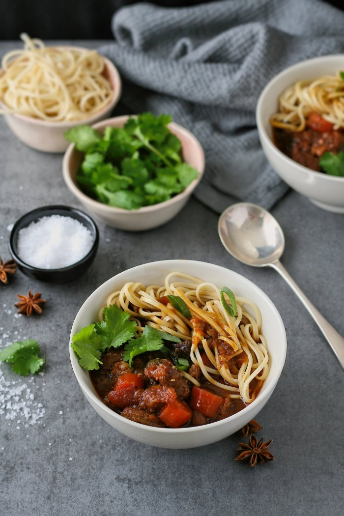 Taiwanese beef and noodle soup
