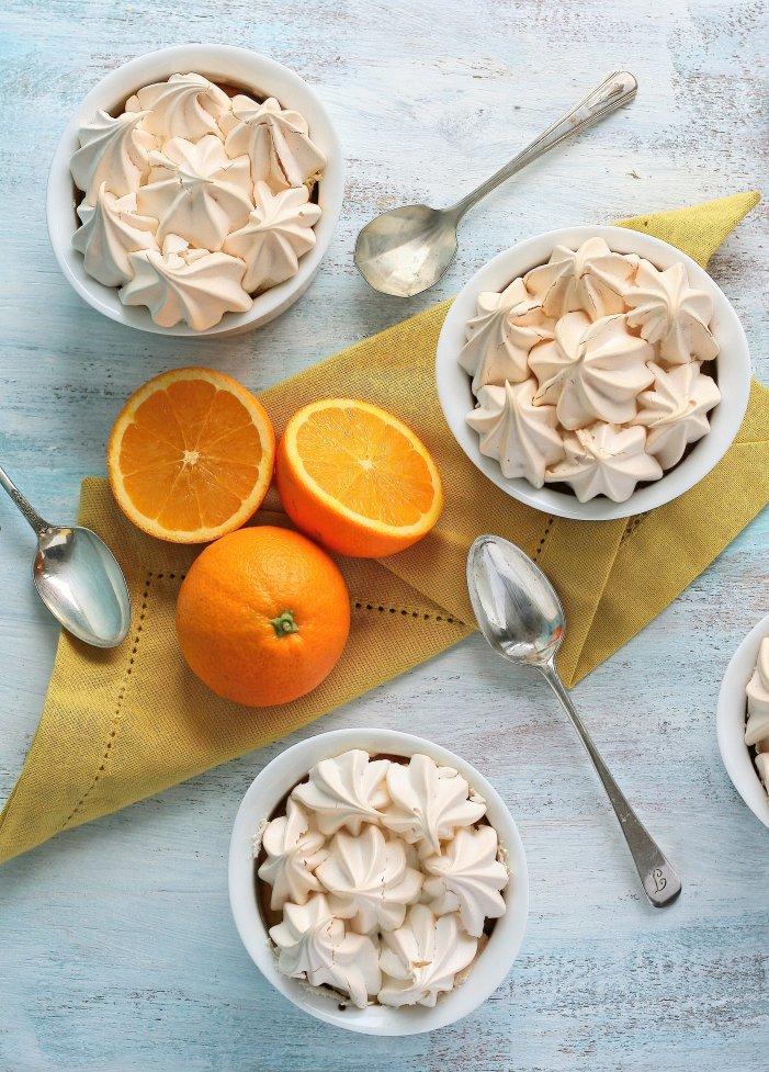 Mini chocolate orange meringue pie recipe