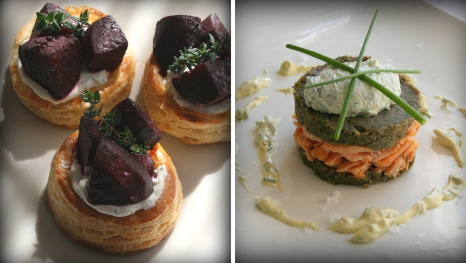 Savoury canapé recipes.