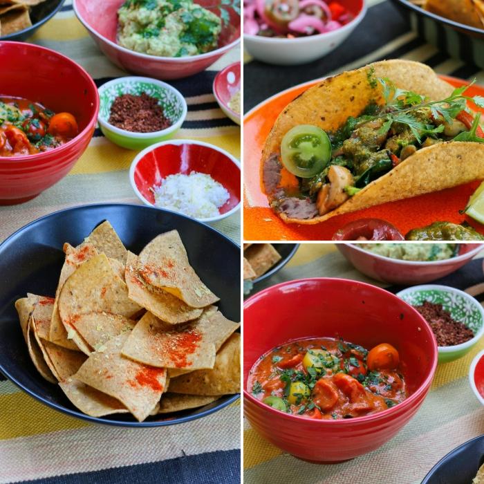 Vegan food at Cabron Taco Bar