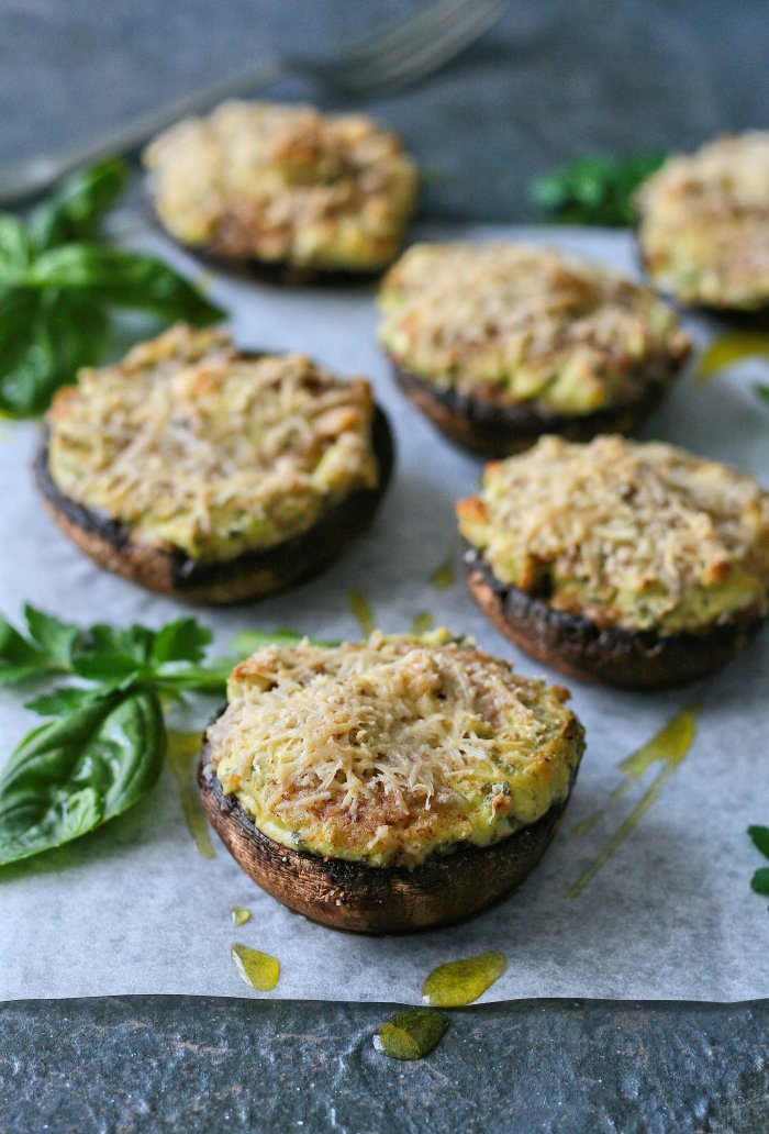 Stuffed mushrooms recipe with cream cheese and parmesan