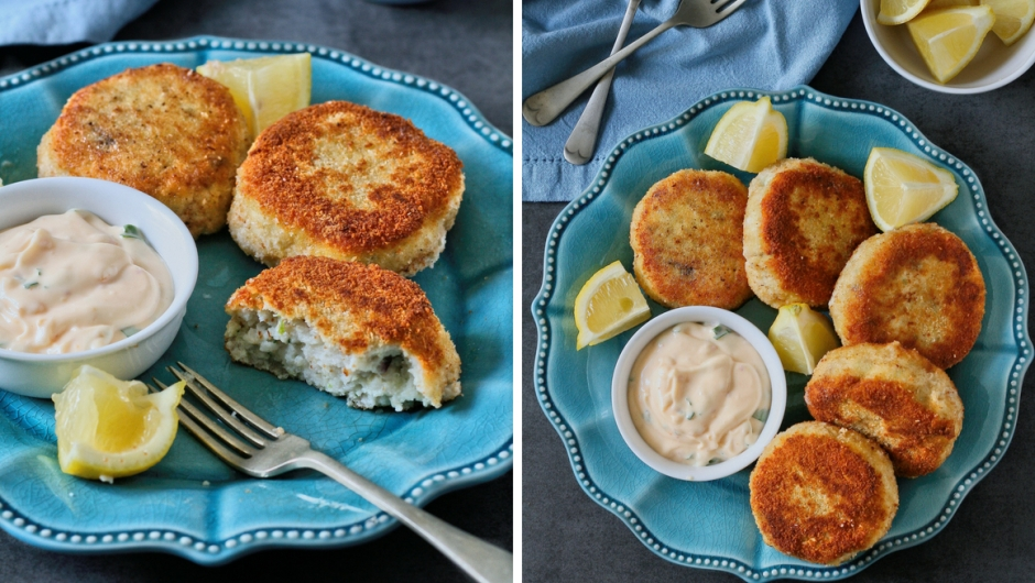 Fish cakes with lime and coconut