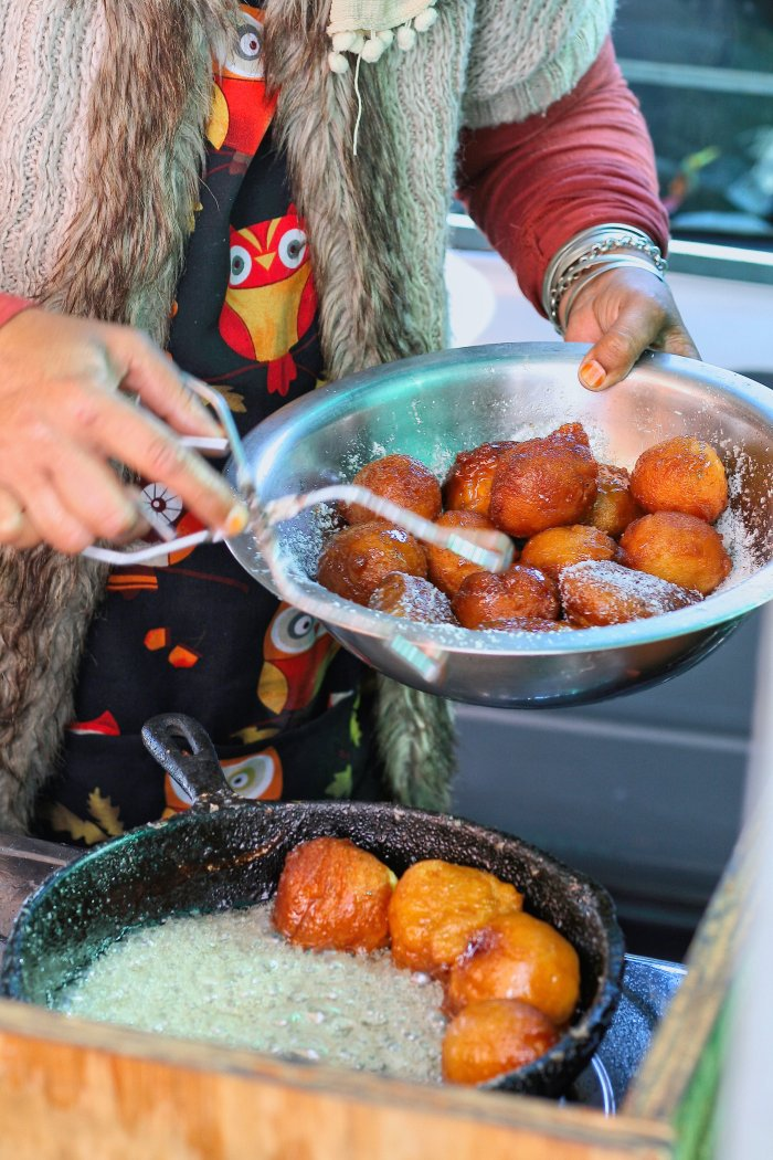 Street food koeksisters in the Bo Kaap.