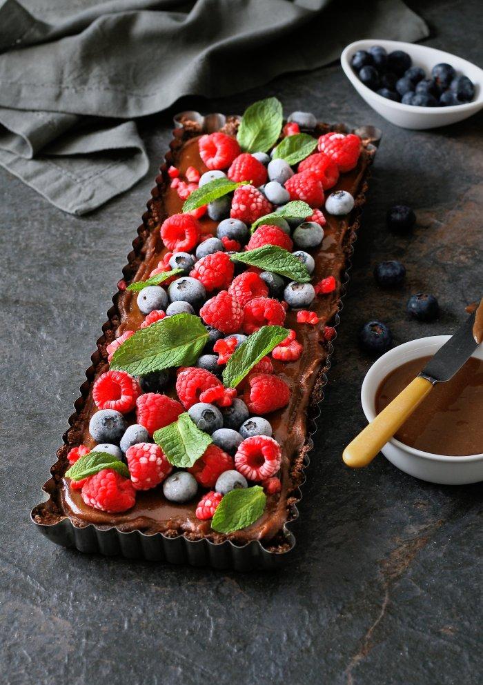 Vegan chocolate and caramel dessert recipe