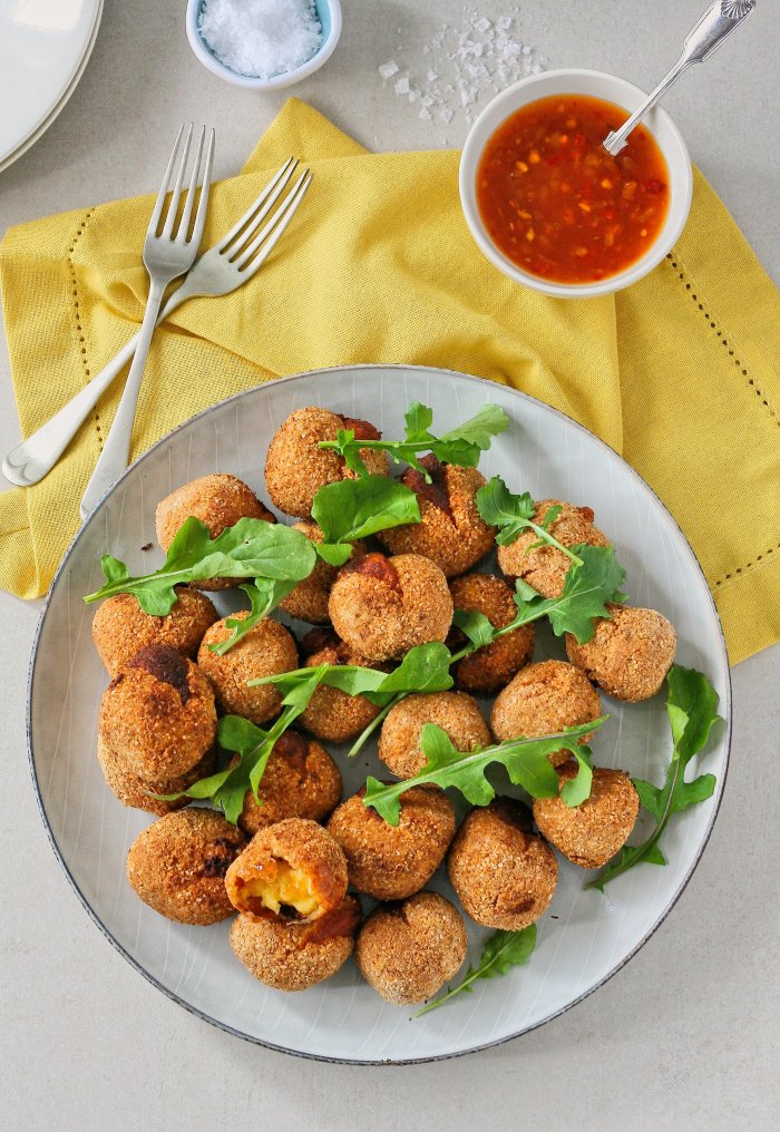 Almond flour cheese croquettes