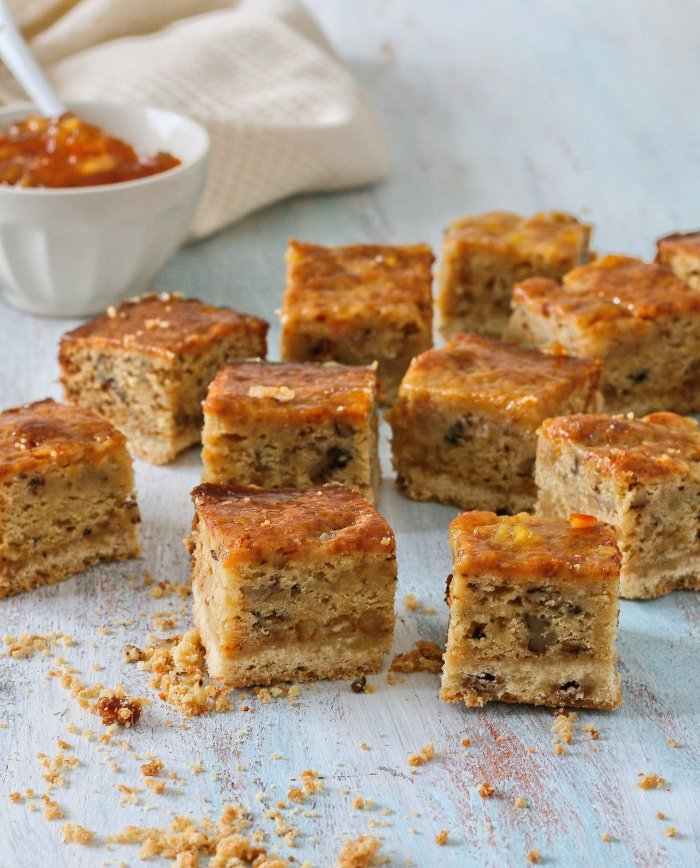 Easy baked marmalade squares