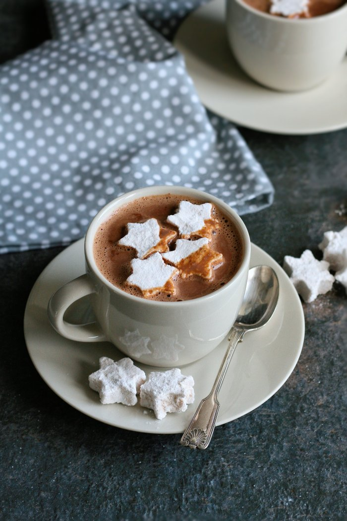 Hot chocolate recipe with cinnamon and home made marshmallows