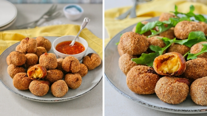 Gluten free cheese croquettes