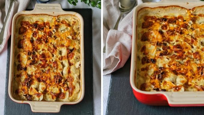 Cheese and bacon potato bake