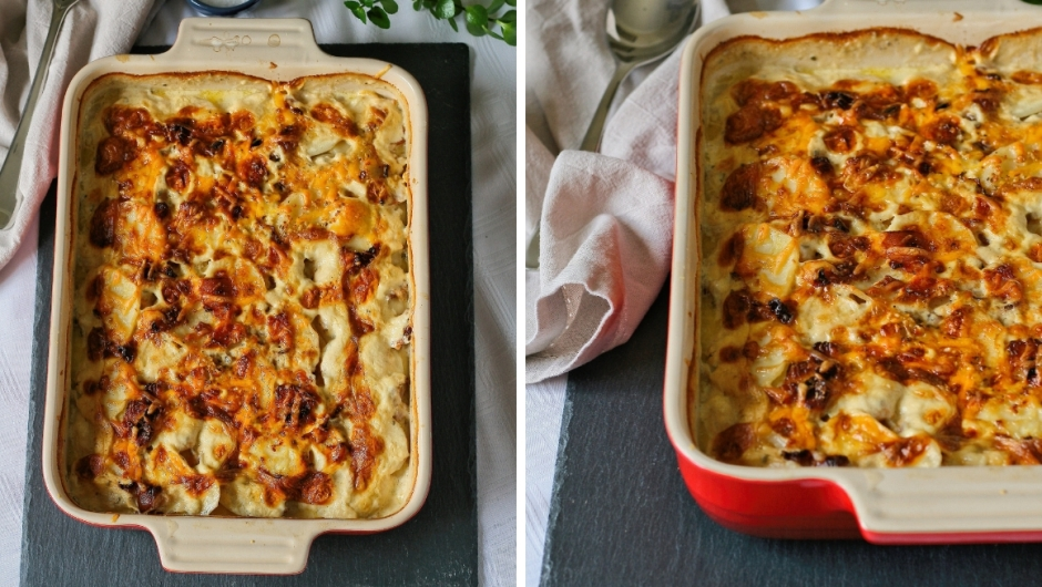 Cheese and bacon potato bake