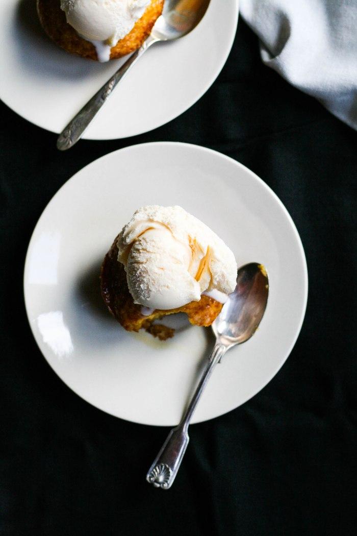 Mini malva puddings with marmalade