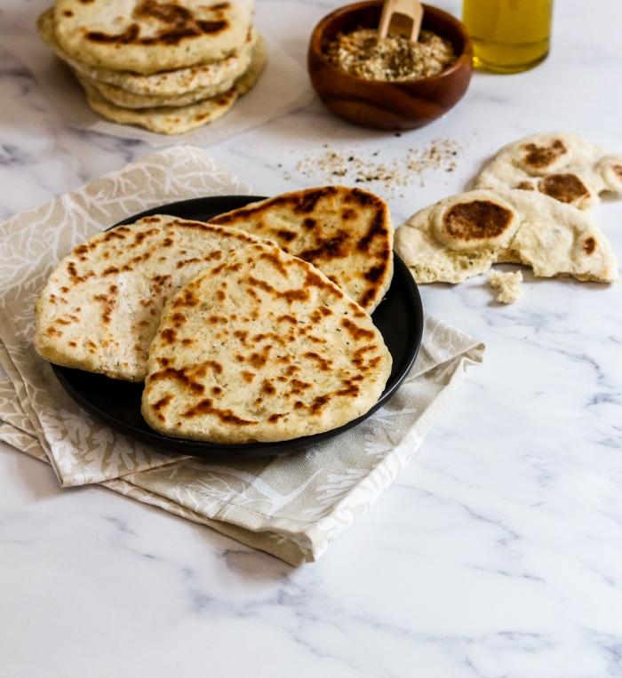 Easy flatbread recipe with yoghurt