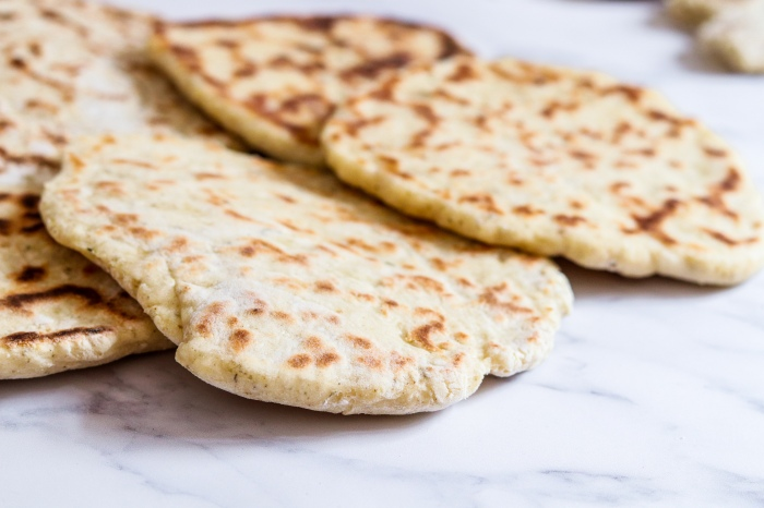 Quick no yeast flatbreads with yoghurt and spices