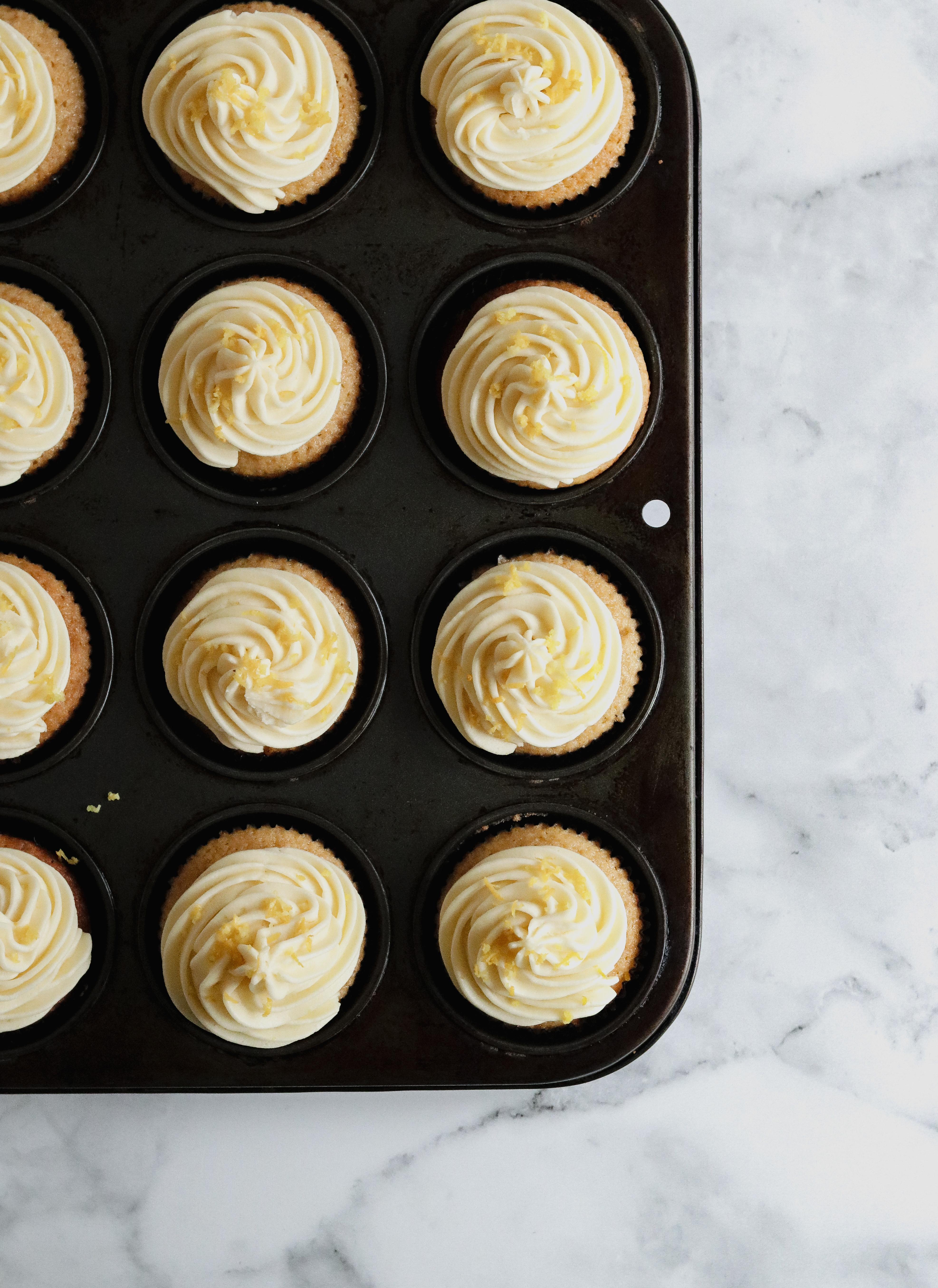 Rooibos and orange cupcakes with buttercream icing